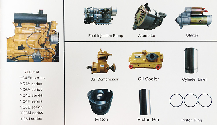 Yuchai Engine Parts