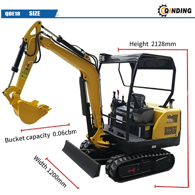 Excavator With Rubber Track