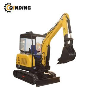 2.5Ton Mini Excavator 2500kgs With 0.1cbm Bucket With Rubber Track