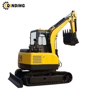 3.5ton Hydraulic Crawler Mini Excavator 3500kgs Steel Tracks With Cab