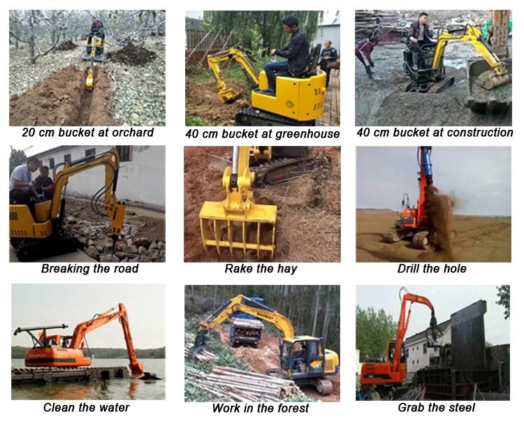 Accplication of the Mini excavator in South America