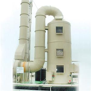 Tour d'adsorption de gaz d'échappement par pulvérisation humide