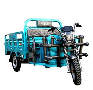 Battery Powered 1000W Electric Cabin Cargo Tricycle 3-Wheel Cargo Loader