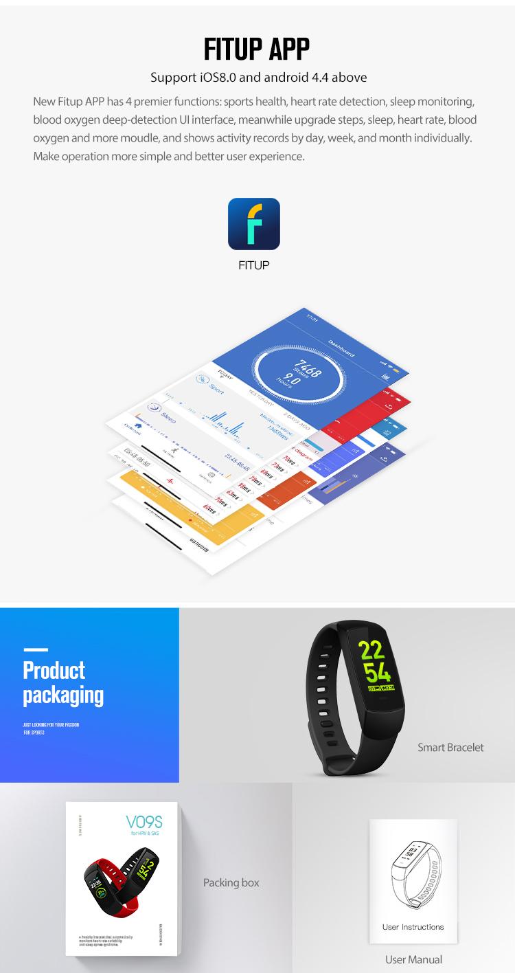 Supply Fitness Smart Bracelet Blood Pressure With User