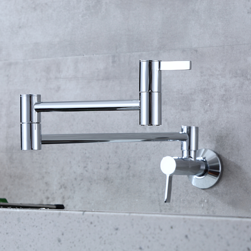 wall mounted pot filler faucet