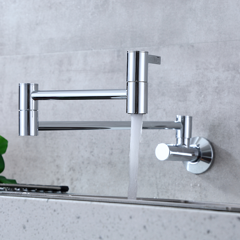 wall mounted pot filler kitchen faucet