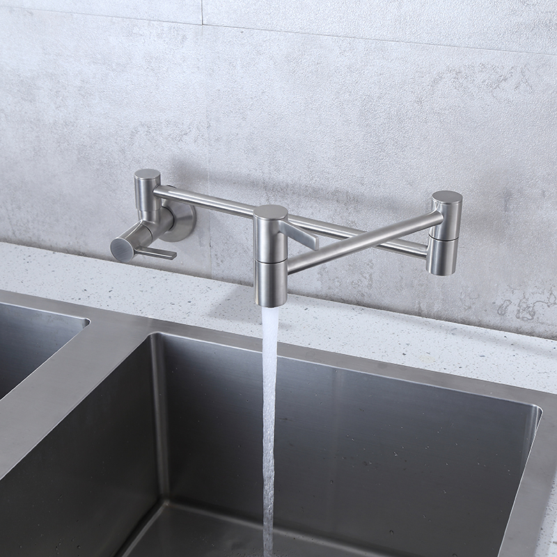 pot filler folding kitchen faucet