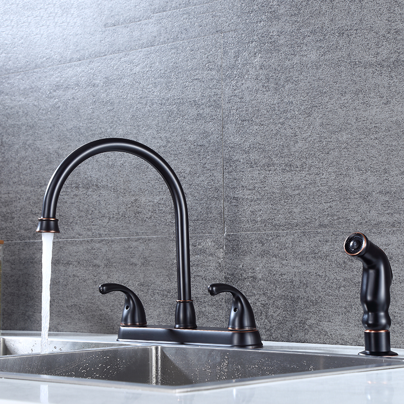 two handle kitchen sink faucet