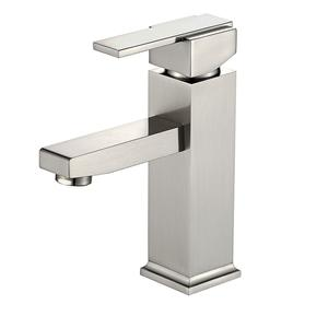 Single Handle Brushed Nickel Bathroom Faucet