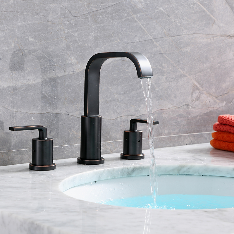 oil rubbed bronze widespread faucet
