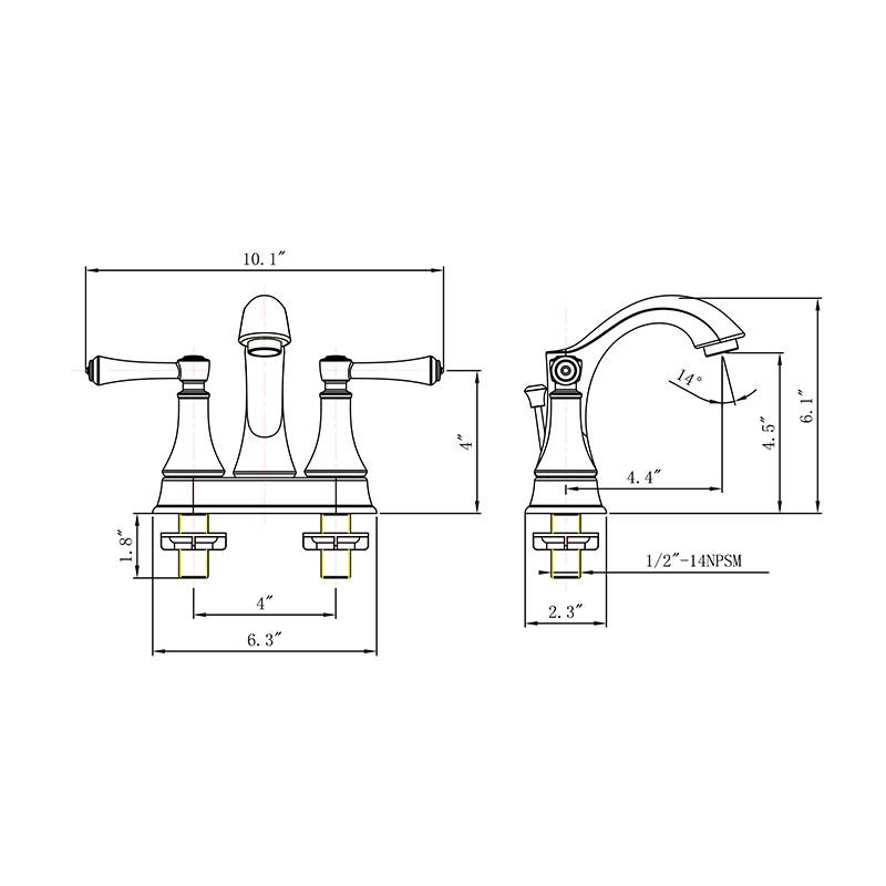 4 Inch Double Handle Lavatory Faucet Manufacturers, 4 Inch Double Handle Lavatory Faucet Factory, Supply 4 Inch Double Handle Lavatory Faucet