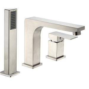 Deck-mount Roman Tub Faucet With Hand Shower