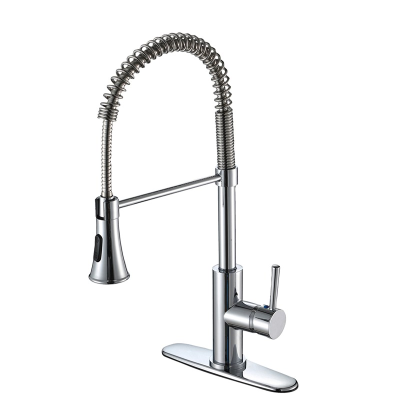High ARC Spring Kitchen Sink Faucet With Sprayer Manufacturers, High ARC Spring Kitchen Sink Faucet With Sprayer Factory, Supply High ARC Spring Kitchen Sink Faucet With Sprayer
