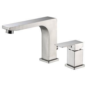 Set di rubinetti per vasca idromassaggio in nichel spazzolato