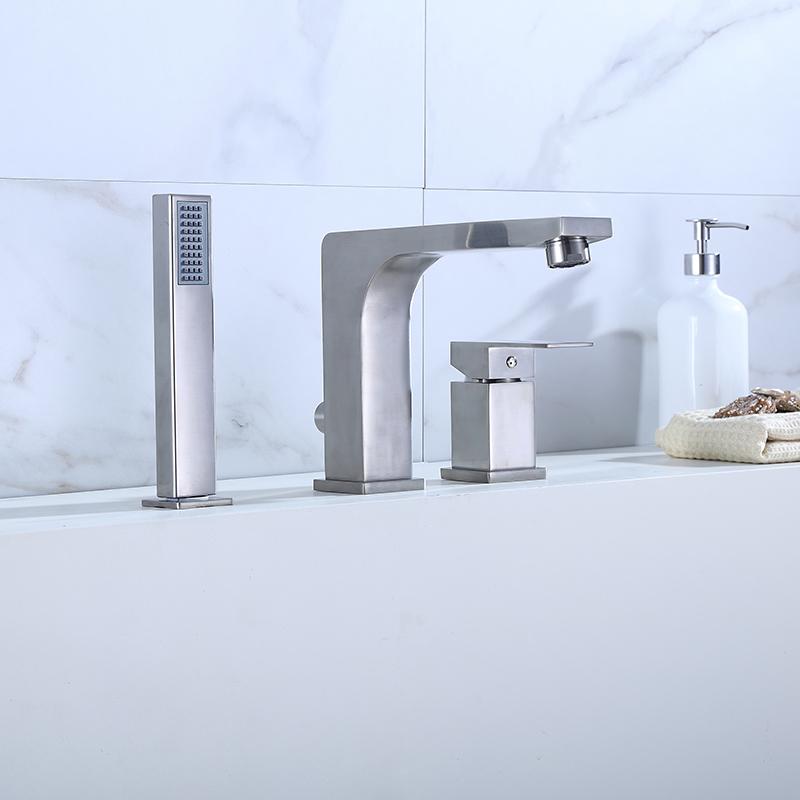 brushed nickel tub faucet