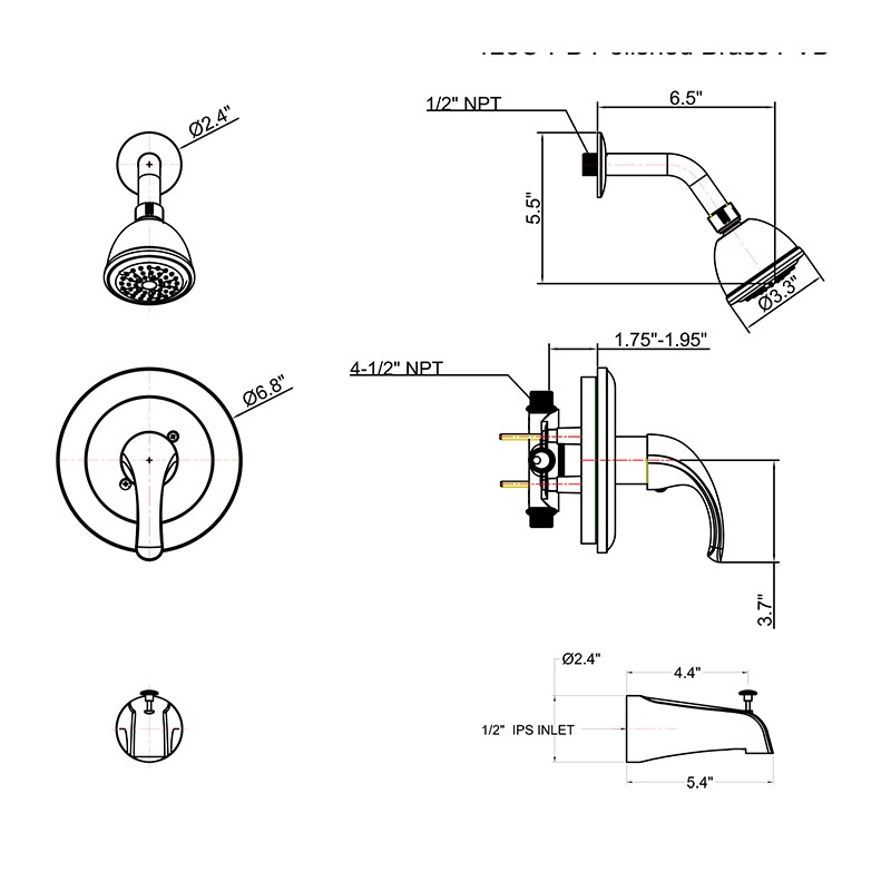 Shower Combo Set With Tub Spout Manufacturers, Shower Combo Set With Tub Spout Factory, Supply Shower Combo Set With Tub Spout