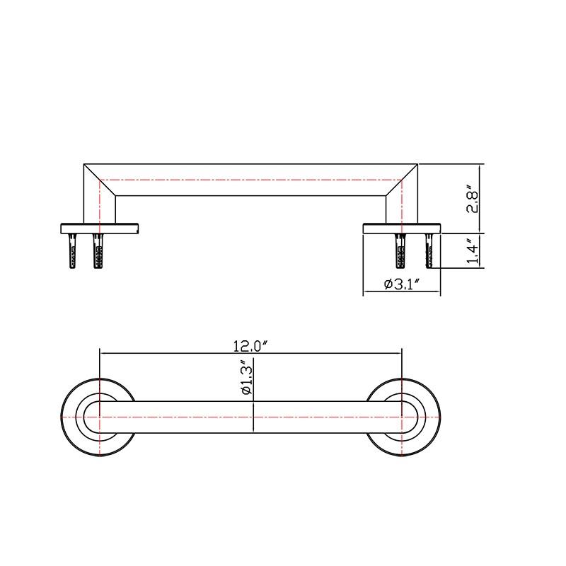 Bathroom Stainless Steel Grab Bar Manufacturers, Bathroom Stainless Steel Grab Bar Factory, Supply Bathroom Stainless Steel Grab Bar
