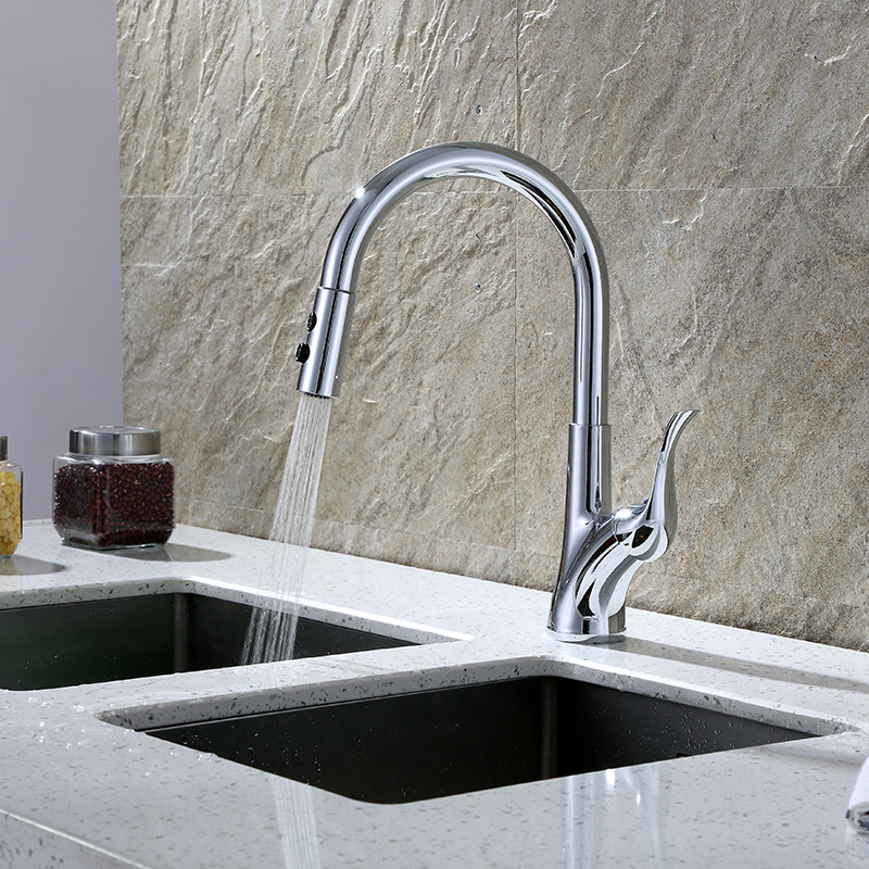 faucet with pull-down sprayer
