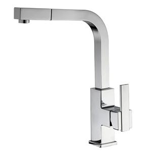 High Arc Chrome Pull-down Kitchen Faucet