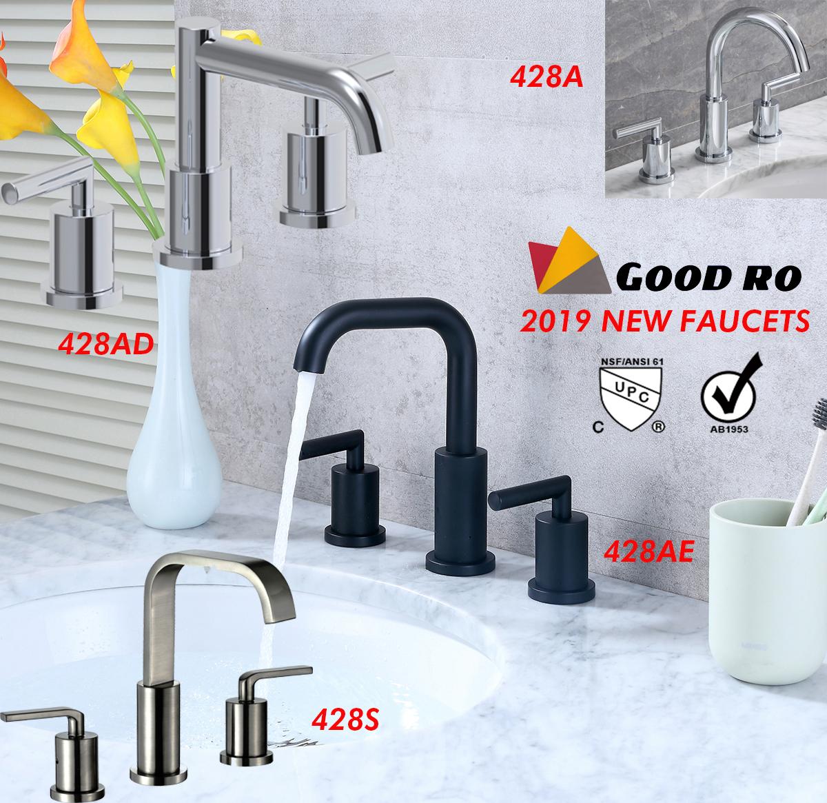 widespread bathroom sink faucet