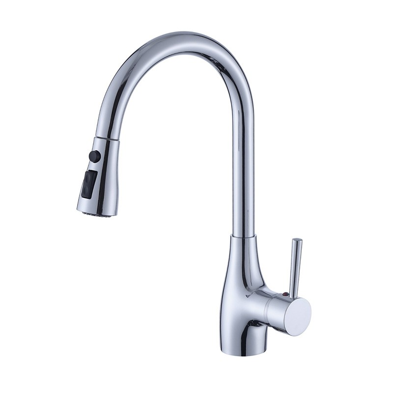 Single Handle Kitchen Sink Faucet Dengan Tarik Penyembur ke bawah