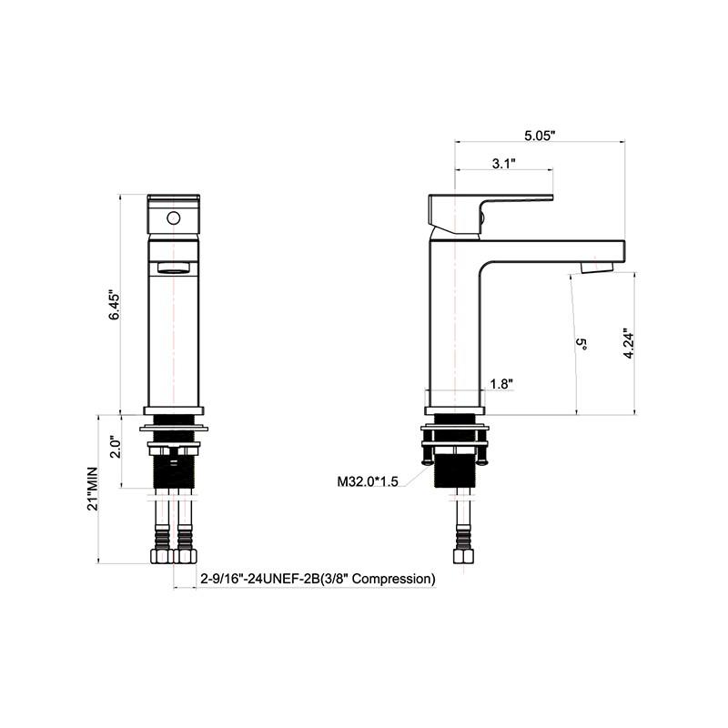 Single Handle Bathroom Faucet Manufacturers, Single Handle Bathroom Faucet Factory, Supply Single Handle Bathroom Faucet