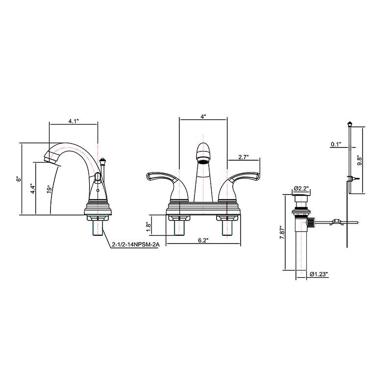 4 Inch Two Handle Centerset Lavatory Faucet Manufacturers, 4 Inch Two Handle Centerset Lavatory Faucet Factory, Supply 4 Inch Two Handle Centerset Lavatory Faucet