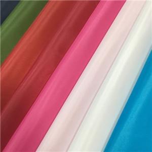 बिक्री के लिए रंगीन पॉलिएस्टर तफ़ता पोशाक कपड़ा