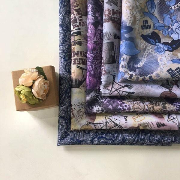 पॉलिएस्टर तफ़ता हस्तांतरण मुद्रण फैशन डिजाइन अस्तर कपड़े