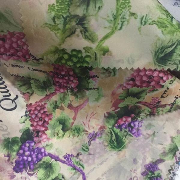 पॉलिएस्टर 190T तफ़ता फूल मुद्रण जैकेट अस्तर के लिए