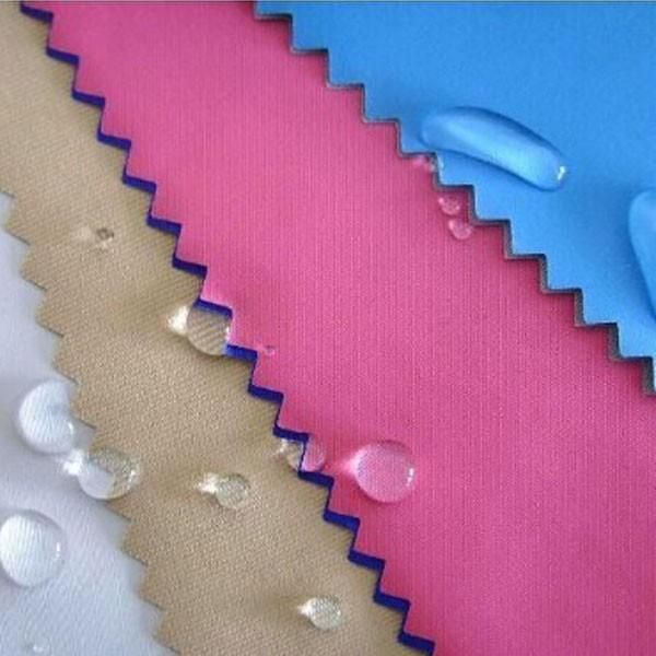 100% पॉलिएस्टर तफ़ता टेफ्लान लेपित निविड़ अंधकार कपड़े