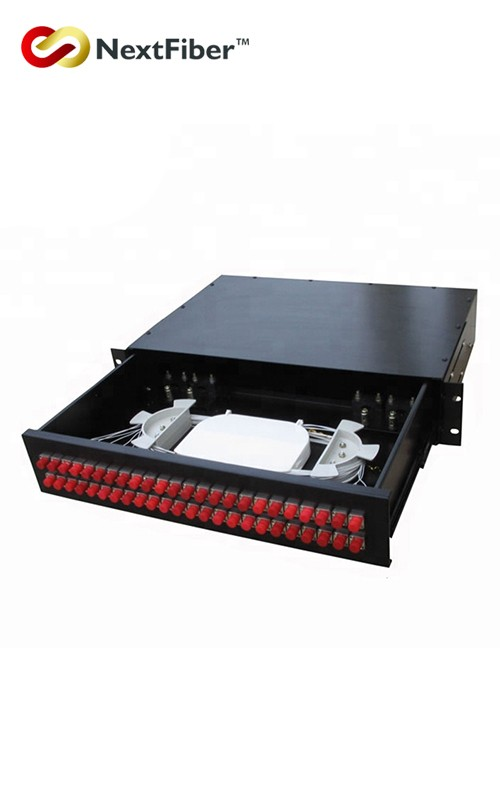 Fiber Optic Distribution Frame 12 24 48 Cores 1U Type For FTTX Patch Panel NF03108