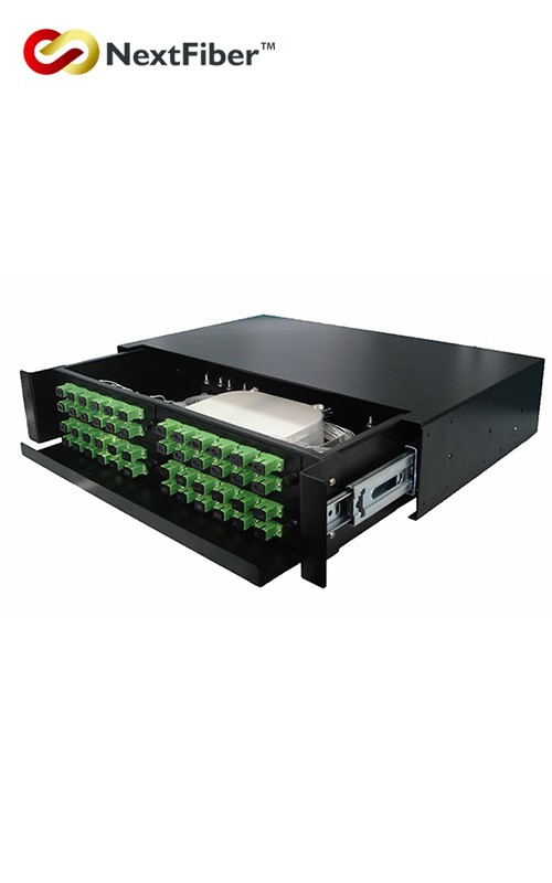 FTTH Rack Mounted 12 Ports 12/24/ 48 Core OM3 Fiber Optical Drawer Patch Panel