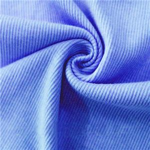 polyester dty brushed rib fabric