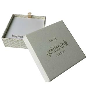 Logo Printed Paper Jewelry Box Packaging