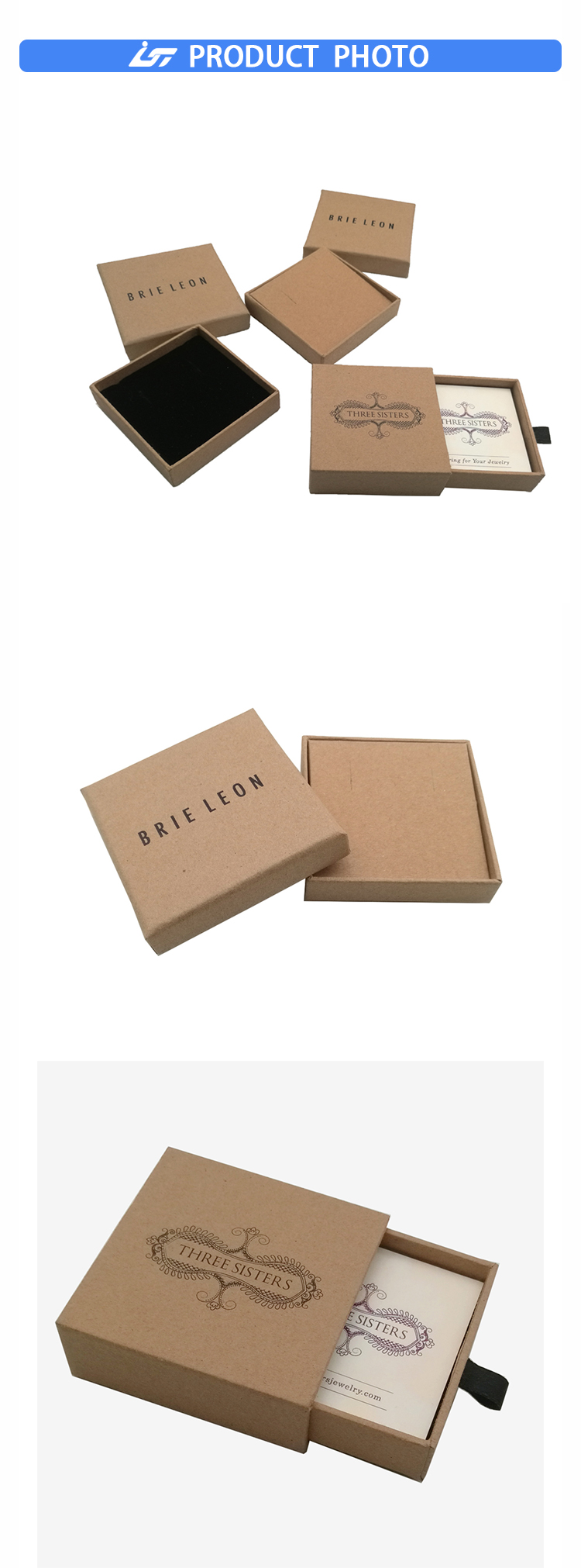 kraft paper jewelry box
