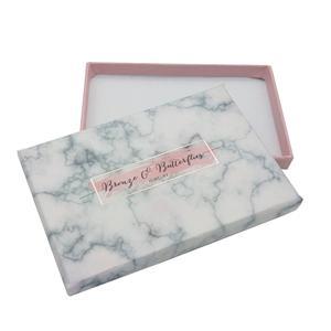 Caja de regalo de mármol de embalaje rosa