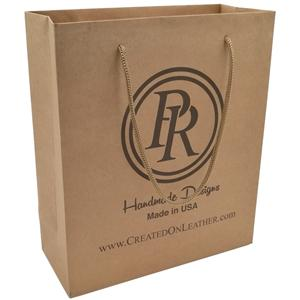 Printed Gift Shopping Brown Kraft Paper Bag