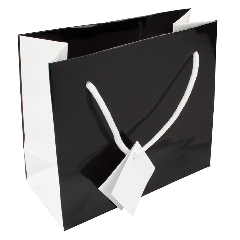 Logo Cheap Black Packaging Paper Bag Manufacturers, Logo Cheap Black Packaging Paper Bag Factory, Supply Logo Cheap Black Packaging Paper Bag