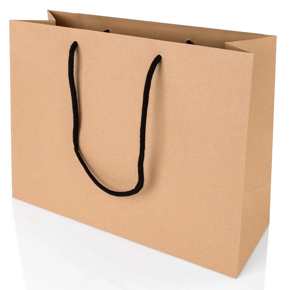Luxury Handle Kraft Paper Shopping Bag