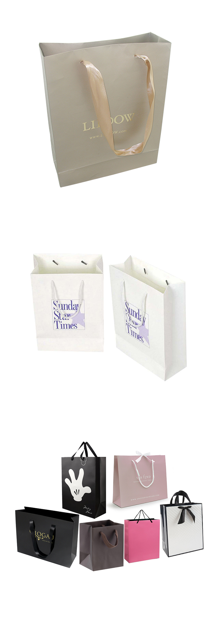 paper gift bag for packaging