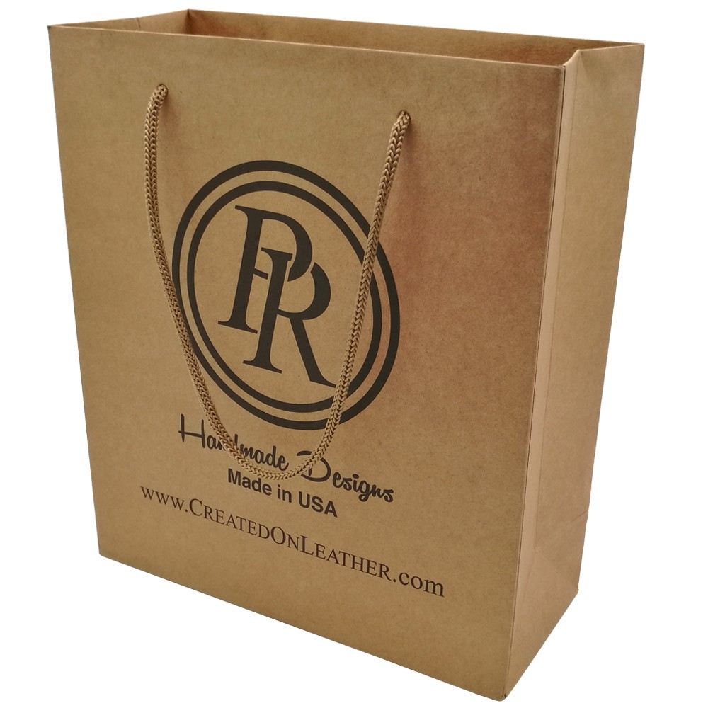 Gift Brown Kraft Paper Bag With Handle