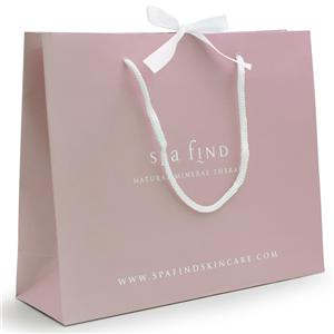 Shopping Gift Paper Bags With Ribbon