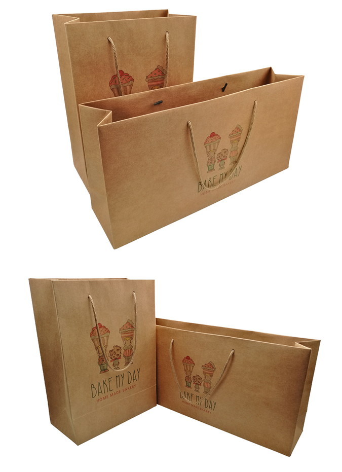 paper bags with ribbon