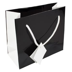 Små presentpappers shoppingväskor med logotyper