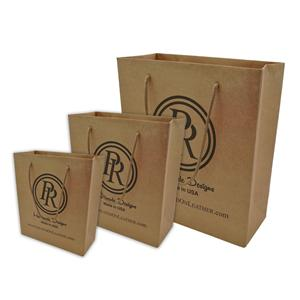 Custom Size Luxury Shopping Kraft Paper Bags