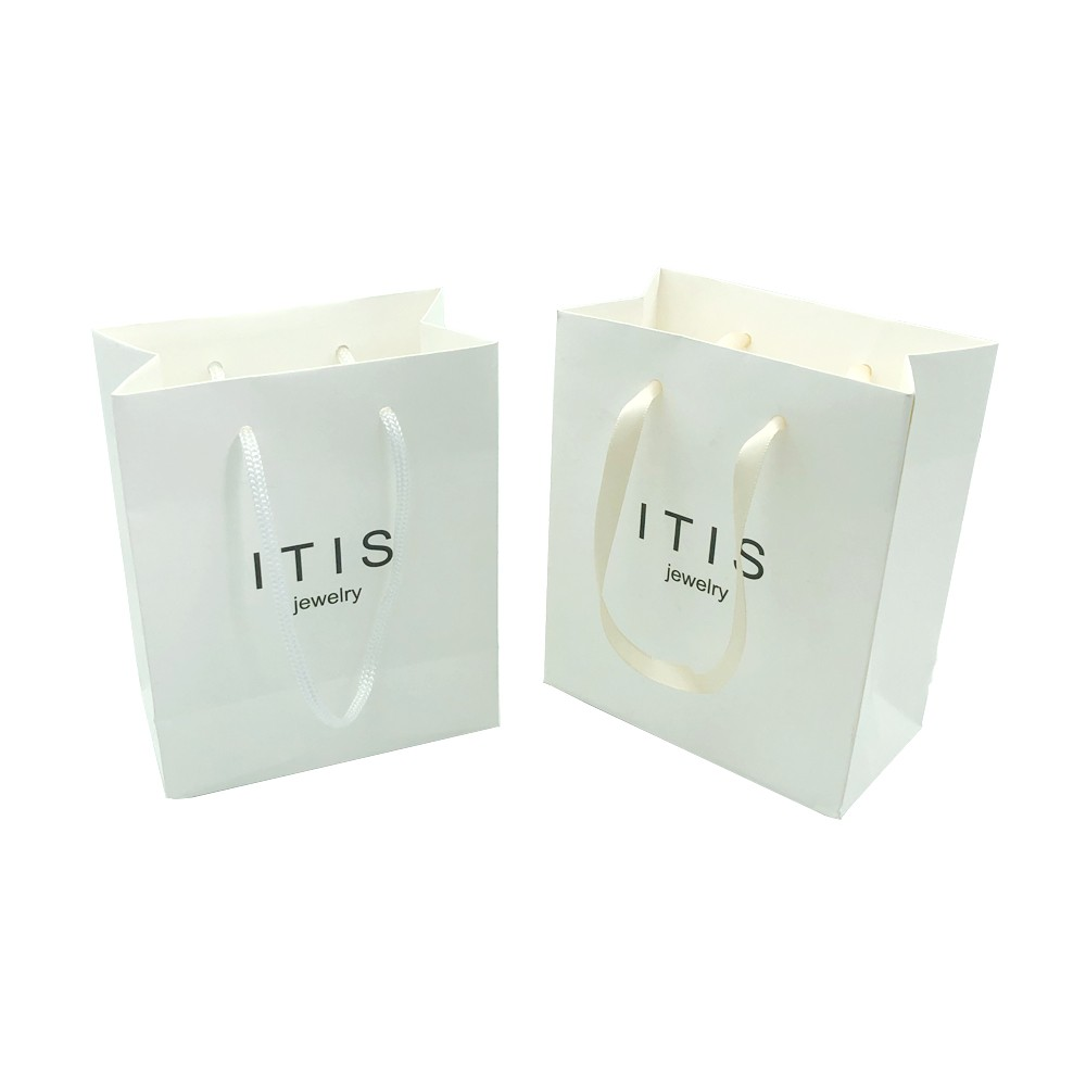 Small Mini Wedding Packaging White Gift Bags