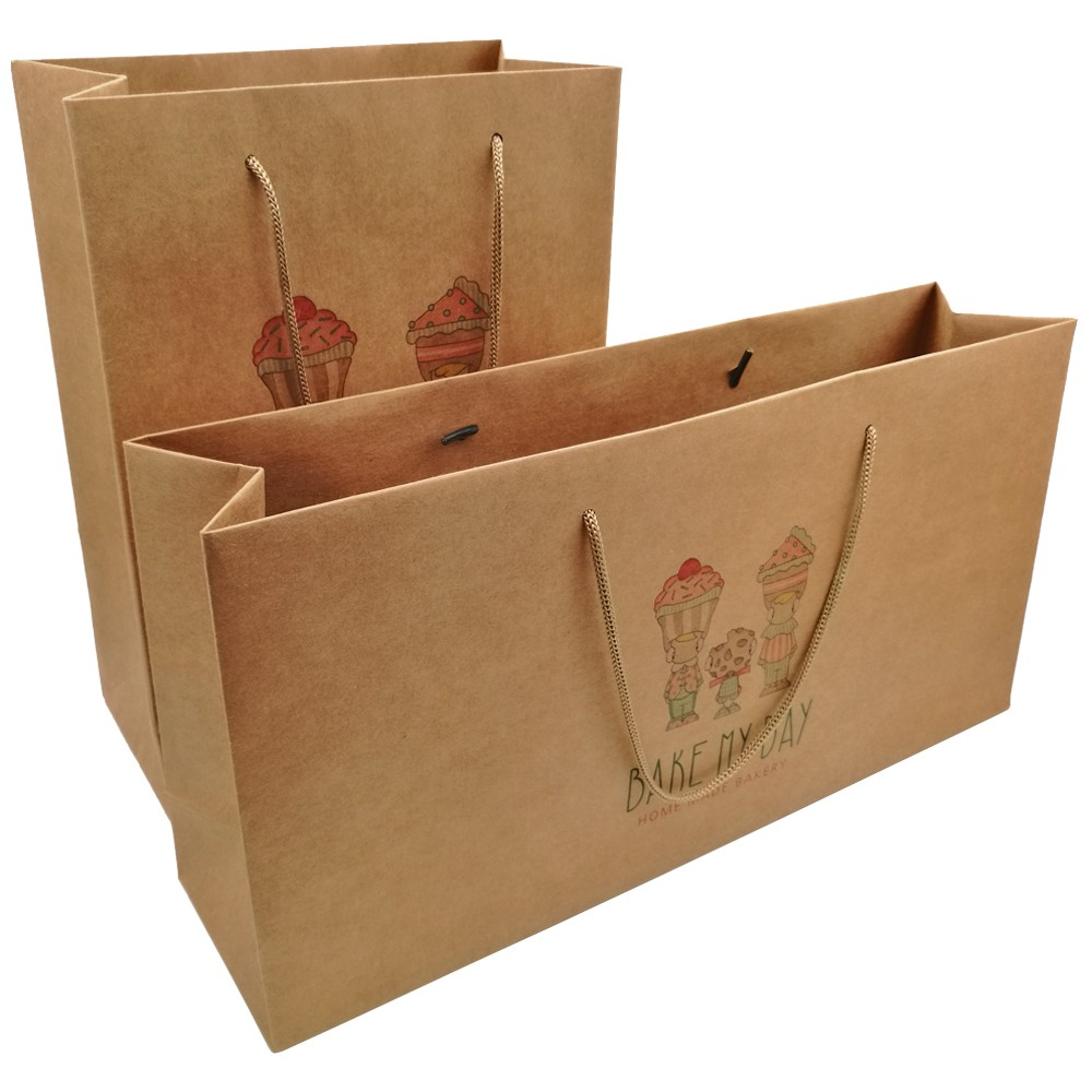 Kraft Brown Paper Gift Bags With Logo Print Manufacturers, Kraft Brown Paper Gift Bags With Logo Print Factory, Supply Kraft Brown Paper Gift Bags With Logo Print