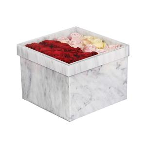 Grande boîte à fleurs carrée simple en marbre