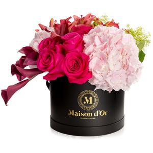Fresh Flower Round Packing Box With Lid